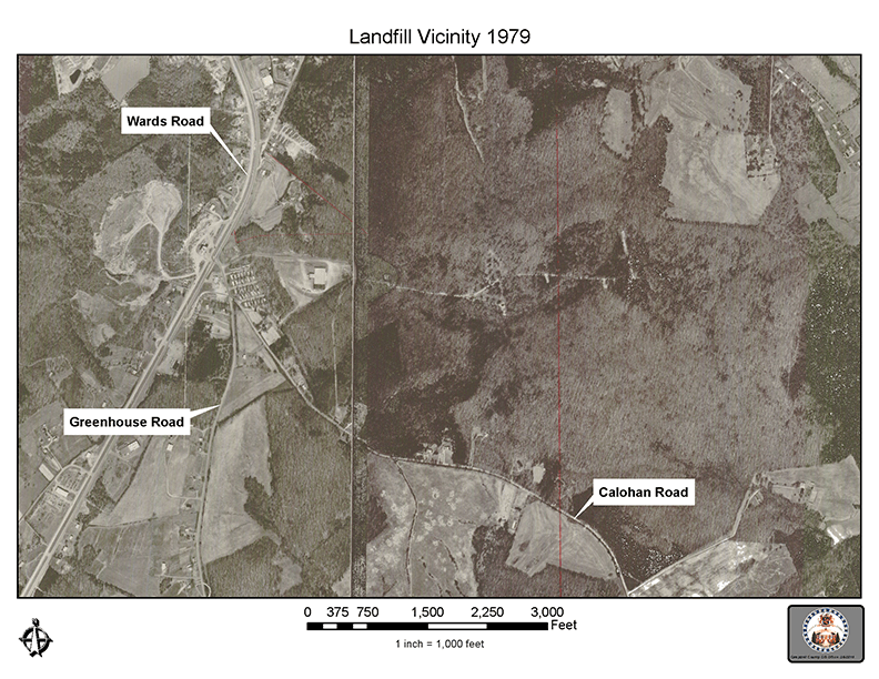 Aerial view and map of the Campbell County Landfill Site in 2007 - 72 dpi