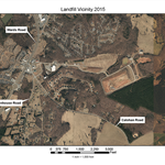Aerial view and map of the Regional Landfill site in 2015 -72 dpi