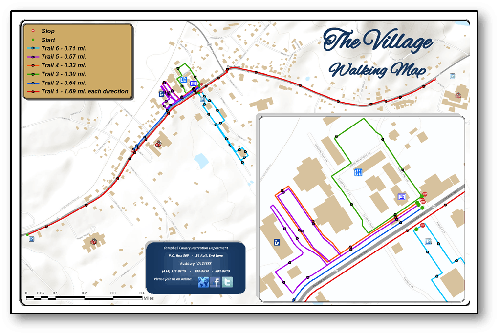 Village Walking Map - Click to download a map